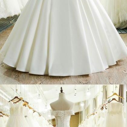 Long Bridal Dress, A-Line Wedding D..