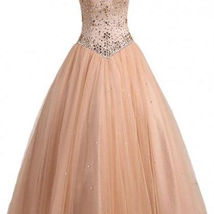 Ball, high neck, tulle, with beads,..