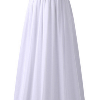 The white elegant formal ball gown ..