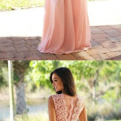 Custom long chiffon Bridesmaid Dres..