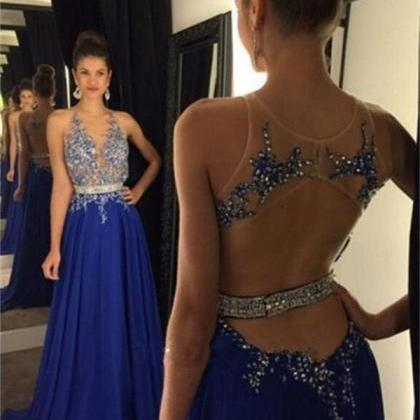 Chiffon Backless Prom Dresses 2016 ..