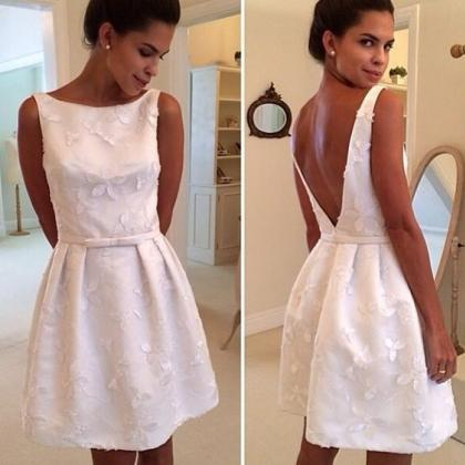 Sexy White Short Prom Dress,A Line ..