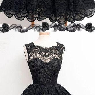 Vintage black lace homecoming dress..