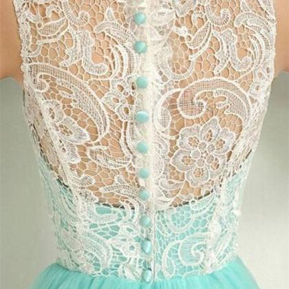 Elegant Mint Prom Dresses,Ruched La..