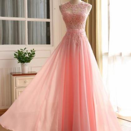 Prom Dress,Lace Appliques Prom Dres..