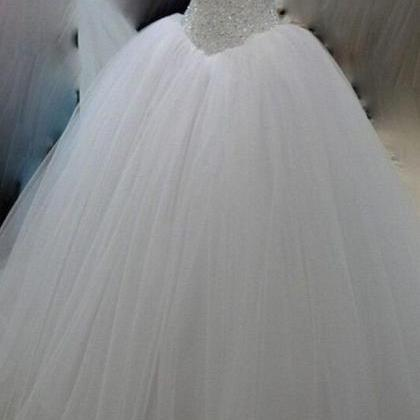 White organza sweetheart sequins be..