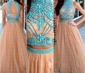Beaded Prom Dress,Ch..