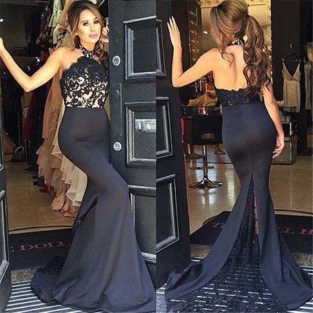 Black Prom Dresses,Mermaid Prom Dress,Lace Prom Dress,Lace Prom Dresses,Formal Gown,Lace Evening Gowns,Party Dress,Lace Prom Gown