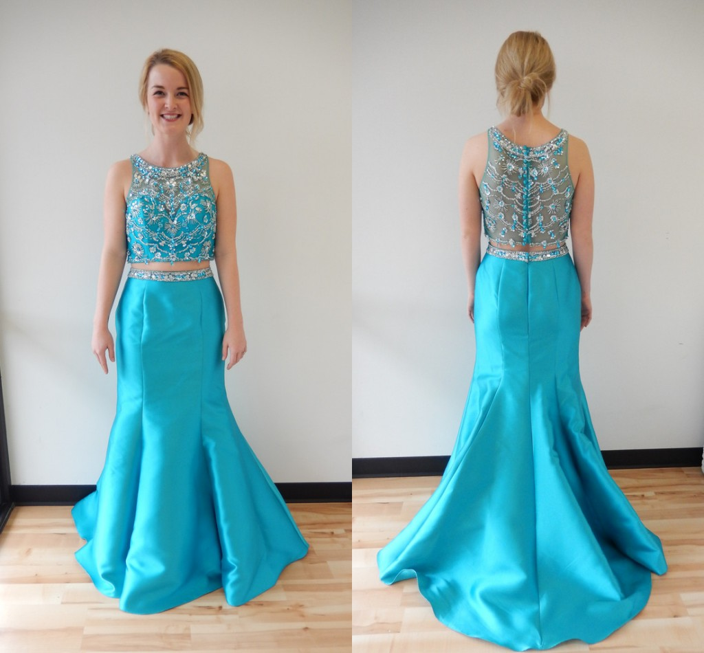 Prom Dresses,Prom Dress,Mermaid Prom Dresses,Two Pieces Prom ...