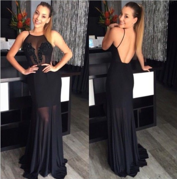 Backless Black Evening Dresses