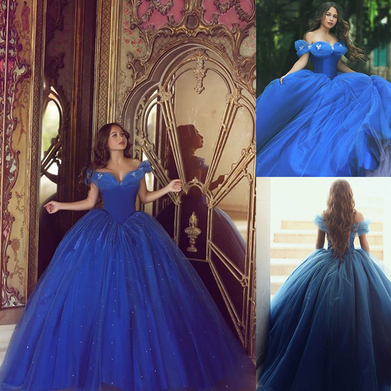 Royal Blue Quinceanera Dress, Cinderella Prom Gowns, Graduation ...