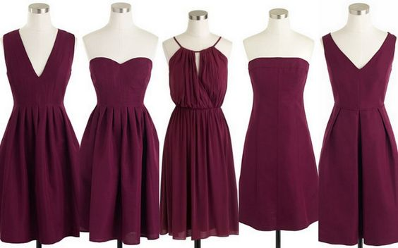 Cranberry Wedding Party Dresses
