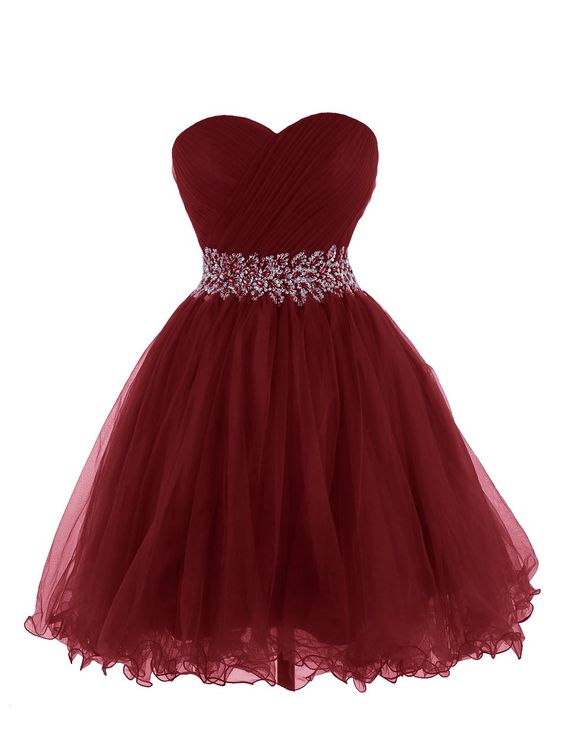 Ball Gown, sweetheart, with sash, Short, Mini, Backless, prom Dress, Homecoming Dresses