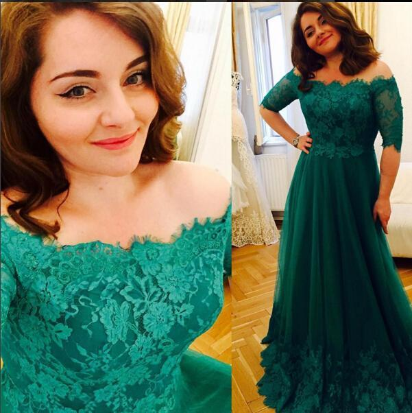 Vintage Plus Size Prom Dresses Long Sleeves