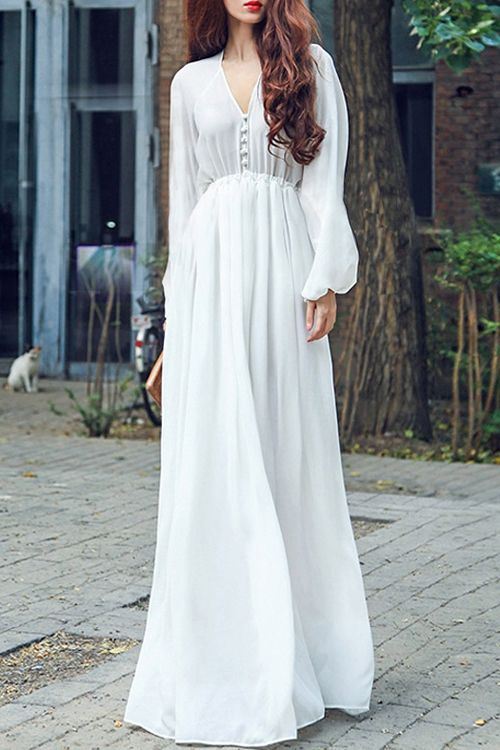 2016 Custom Charming White Chiffon Prom Dresses 4e85995c8