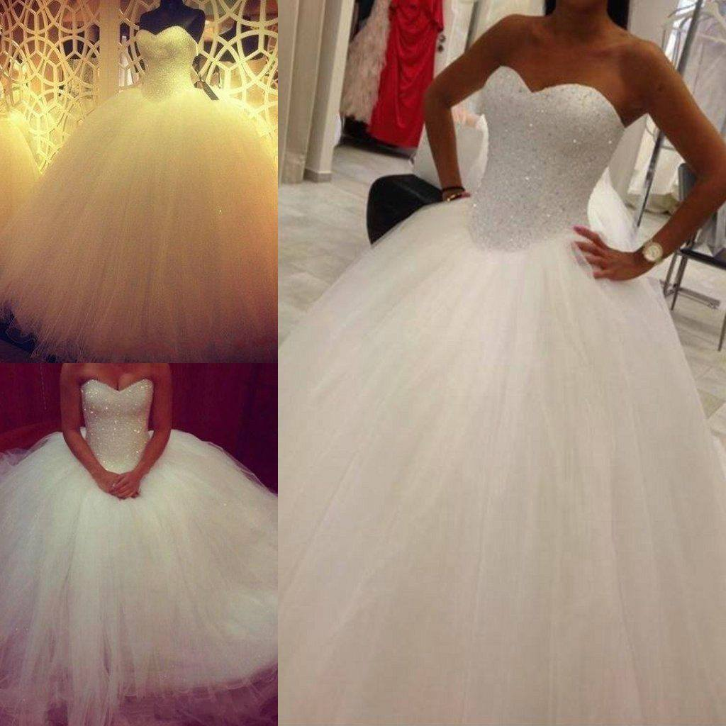 2017 Custom Made Lovely Princess Sweetheart Tulle Prom Gowns Formal