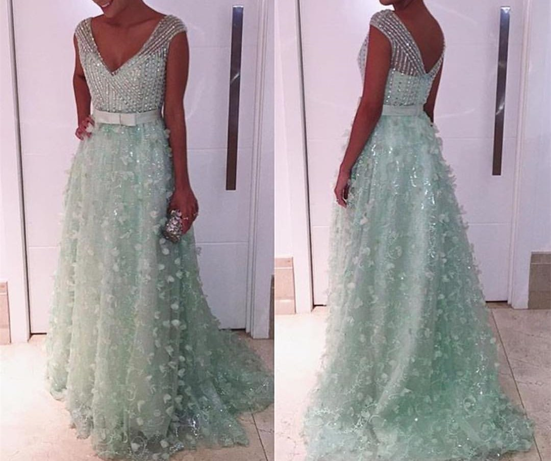 7c463345a968 2017 Custom Charming Mint Green Prom Dress,Sexy Off The Shoulder Evening  Dress,Beading