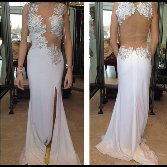 Charming Prom Dress,Chiffon Prom Dress,Appliques Prom Dress,Backless Evening Dress