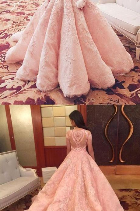 Blush Pink Evening Dress New Fashion Gorgeous Sweet Gowns Pink Long Quinceanera Dresses