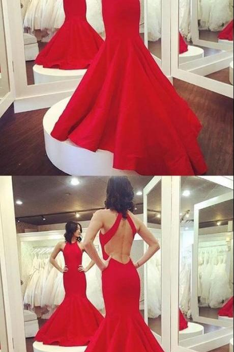Charming Prom Dress Elegant Red Prom Dress Long Mermaid Evening Dress Formal Dress