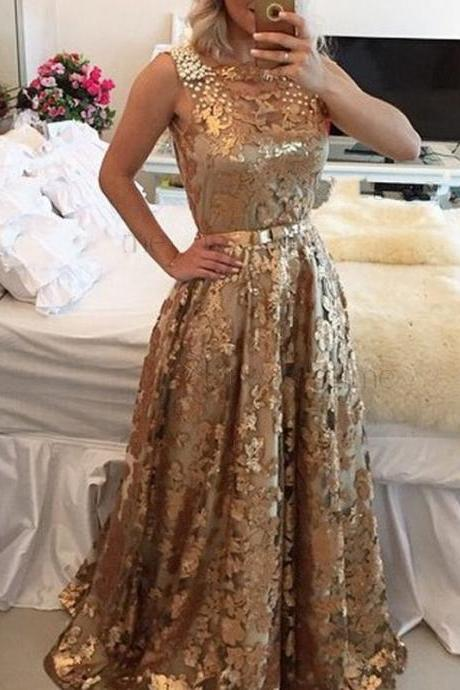 Gold Long Prom Dresses 2017 Prom Dresses Gold Sequins Prom Dresses Dresses for Women Sexy Prom Dresses Vintage Prom Dresses