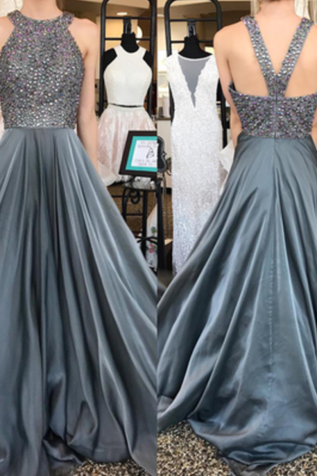 Beading Prom Dresses, New Arrival Long Prom Dresses, Elegant Homecoming Dress