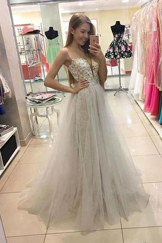 High Fashion A-Line Sweetheart White Lace Long Prom/Evening Dress