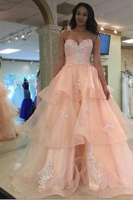 Charming Sweetheart Appliques Prom Dresses,Long Prom Dresses,Cheap Prom Dresses, Evening Dress Prom Gowns, Formal Women Dress,Prom Dress 10055