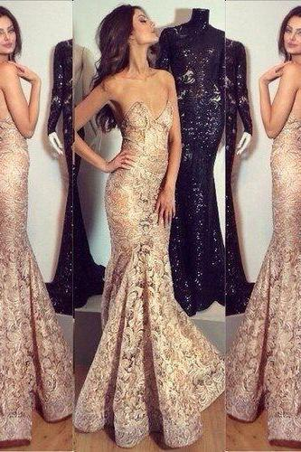 Lace prom dress, long prom dress, elegant prom dress, mermaid prom dress, sexy prom dress, inexpensive prom dress, evening dress, sweet heart prom dress 10682