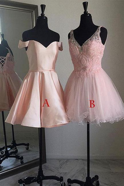 Pink short prom dress, cute pink homecoming dress, formal dress