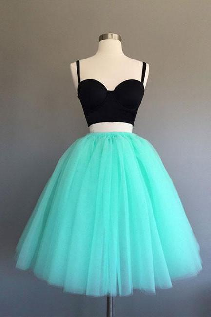 Cute two pieces mint Green short prom dress, homecoming dress