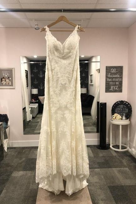 Ivory Lace Venita Formal Wedding Dress,PL0217