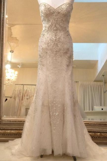 Ivory Formal Wedding Dress,PL0221