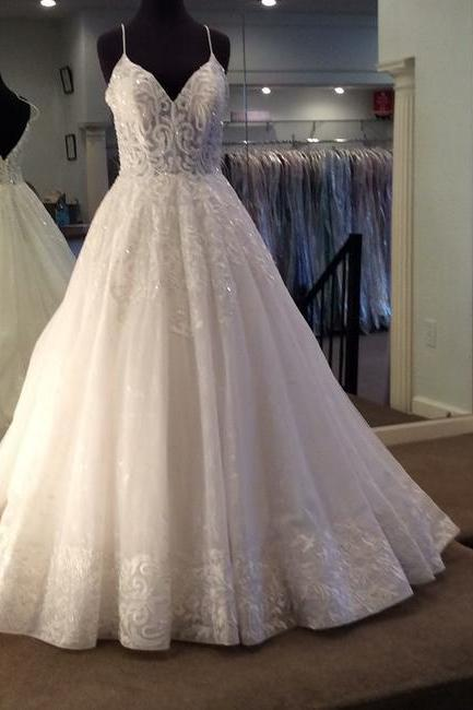 Ivory Gown Formal Wedding Dress,PL0222