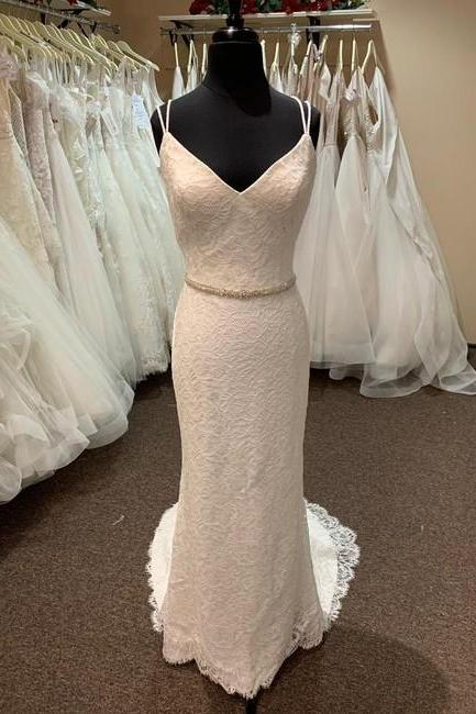 Ivory Formal Wedding Dress,PL0227