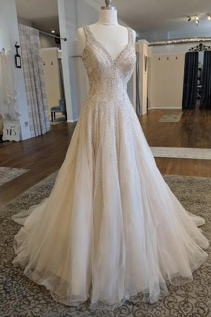 Blush Formal Wedding Dress,PL0231