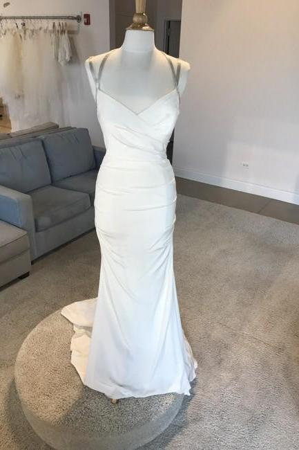 Ivory Formal Wedding Dress,PL0233