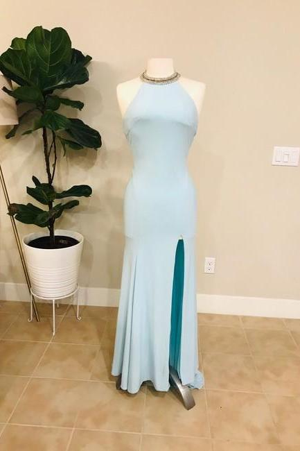 Blue Gown Formal Wedding Dress,PL0237