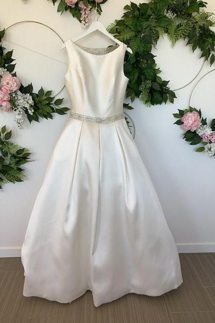 Off White Formal Wedding Dress,PL0239