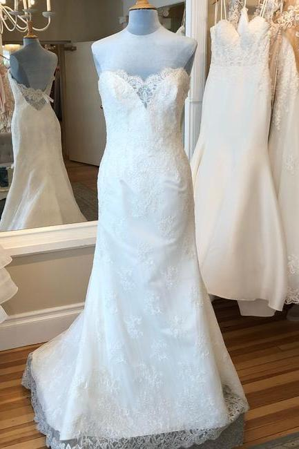 Ivory Formal Wedding Dress,PL0245