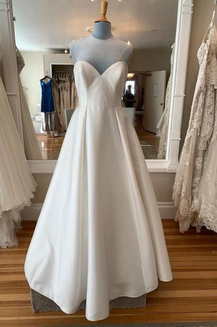 Ivory Formal Wedding Dress,PL0285