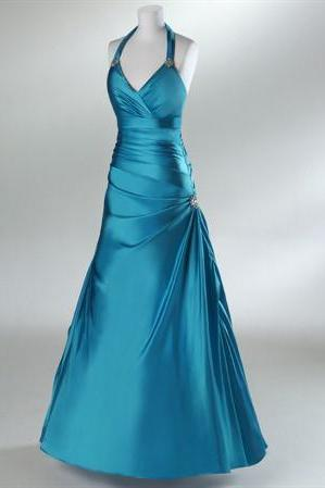 Halter Military Ball Gown Formal Prom Dress,PL0541