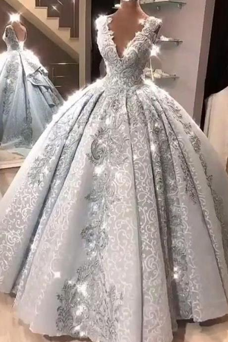 Ball Gown Plus Size Prom Dress Vintage Princess Prom Dress,PL0669