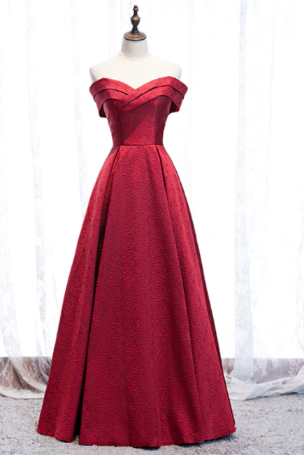 Sweetheart Burgundy Satin Lace Up Long Prom Dress,PL1300