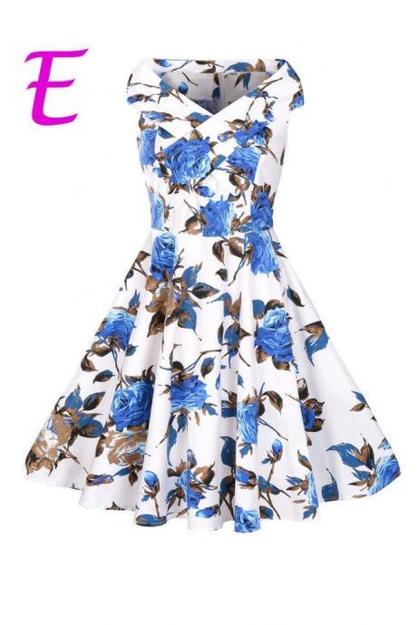Off Shoulder Floral Print Short Party Dress,PL1750