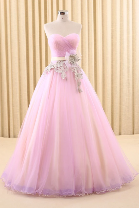 Strapless Pink Home Coming Ball Gown Dress,PL1837
