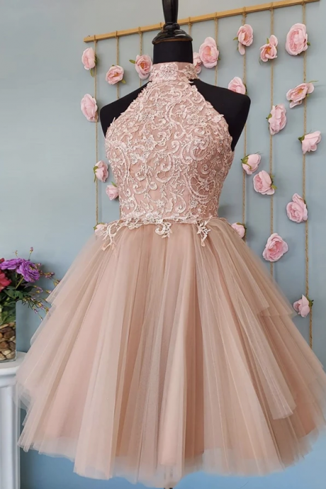CUTE TULLE LACE SHORT DRESS PARTY DRESS Homecoming Dresses ,PL1845