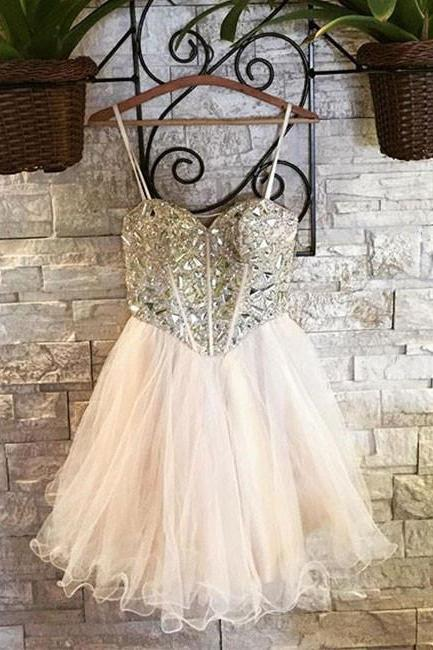 Cute sweetheart tulle short prom dress, homecoming dress,PL3644