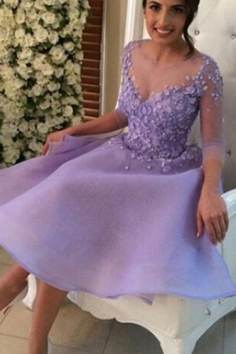 Sleeves Homecoming Dresses,Lavender Short Homecoming Dress,Sexy Party Dresses, Short Prom Dress,Homecoming Dress,Mini Homecoming Dresses,Short Party Cocktail Dresses