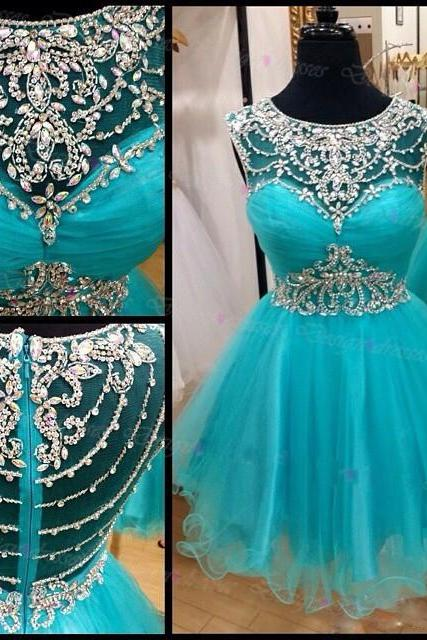 Mini Prom Dress,Blue Beaded Prom Dress,Short Prom Dresses,Sexy Prom Dresses,Beaded Prom Dresses,Short Formal Gowns